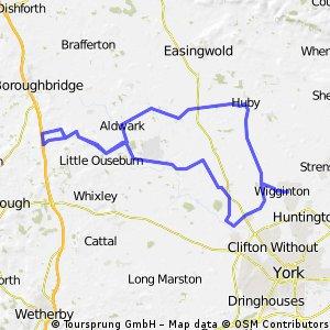 York - Marton cum Grafton - York (But not via Brownmoor Lane)