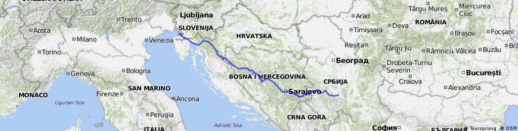 Trieste - Guca (Kralievo)