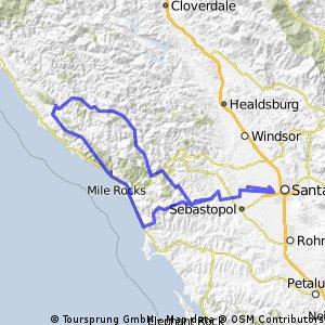 Levi's Gran Fondo route
