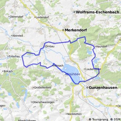 Haundorf, Lindenbühl, Ornbau, Mörsach, Wald, Schlungenhof