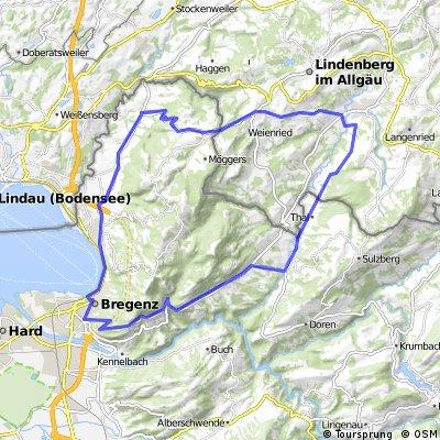 hohenweiler - scheidegg - weiler - langen - fluh