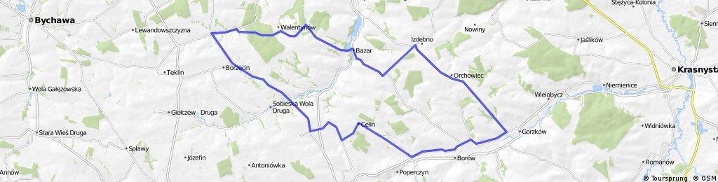 """Szlak rowerowy zielony """"Wyniosłości Giełczewskiej"""""""