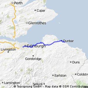 Dunbar to Edinburgh