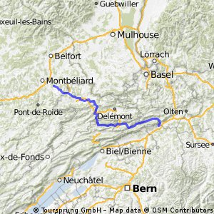 Niederbipp - London Etappe 1 Variante 1