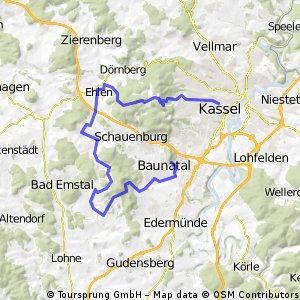 RR 45 km - KS - Hohes Gras - Schauenburg - Niedenstein Baunatal