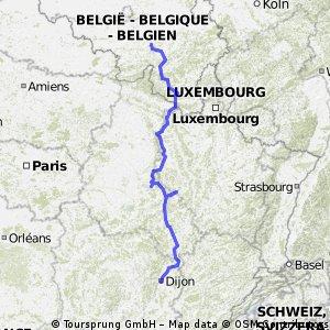 L'itinéraire réel de la caravane