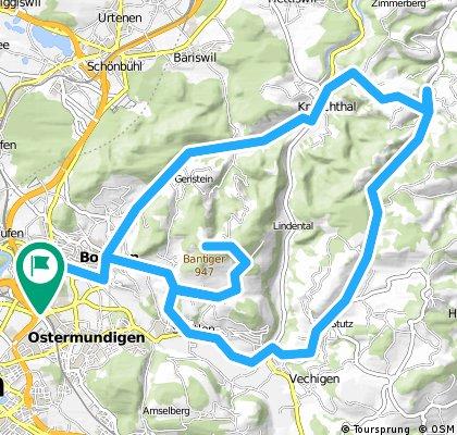Tour Feierabend 4 Hügel