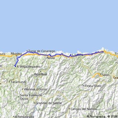 Camino Santiago - (Etapa Nº 08) - Soto de Luiña - Porto de Abaixo
