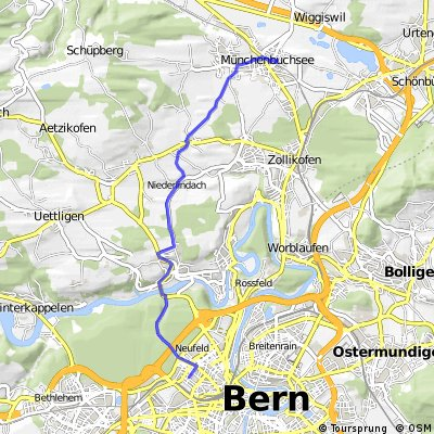 Bern - Herrenschwanden - Niederlindach - Münchenbuchsee