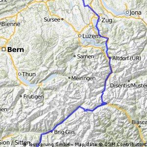 Bremgarten - Grächen über Gotthard, Nufenen
