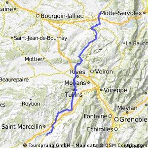Basel - Nice, Tag 9 (St.Genix - Beauvoir en Royans)