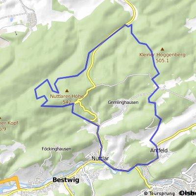Nuttlar - Plackweg - Kallenhardt - Esshoff - Nuttlar