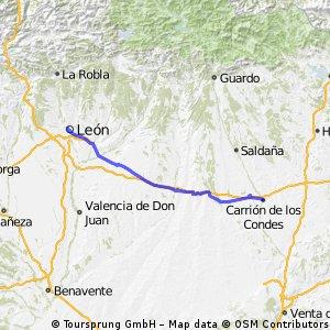 Etapa 2. Carrión de los Condes - León