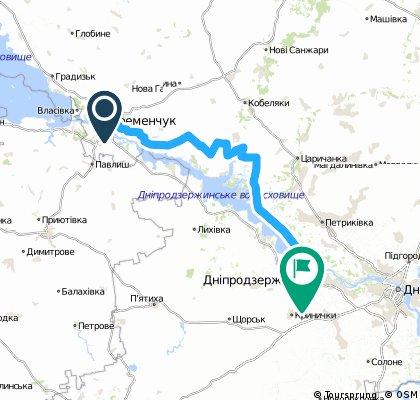 Кременчук - Дніпродзержинськ лівий берег