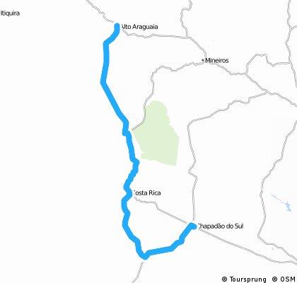 Chapadão até Alto Araguaia