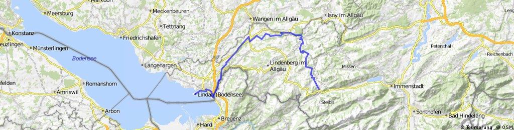 Bodensee Konigssee Radweg Ii Lindau Oberstaufen Bikemap