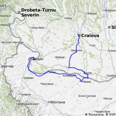 Craiova-Segarcea-Bechet-Oryahovo-Lom-Vidin-Calafat