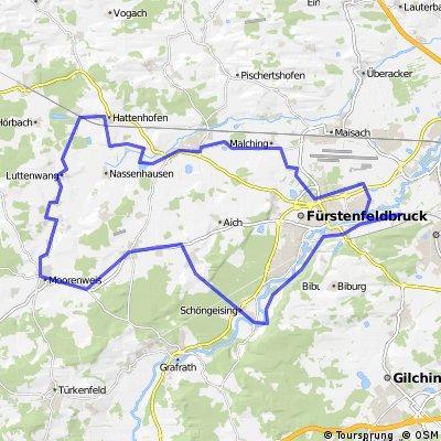 Emmering-Hattenhofen-Moorenweis-Schöngeising-Emmering