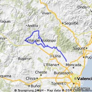 Bétera-Casinos-Villar del Arzobispo-Alcublas-Marines Nuevo-Bétera