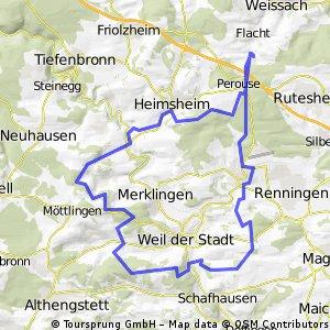 Flacht-Heimsheim-Simmozheim-Weil der Stadt-Malmsheim-Flacht