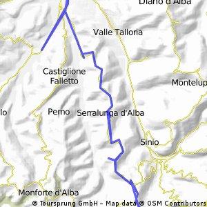 Serralunga kleine Tour