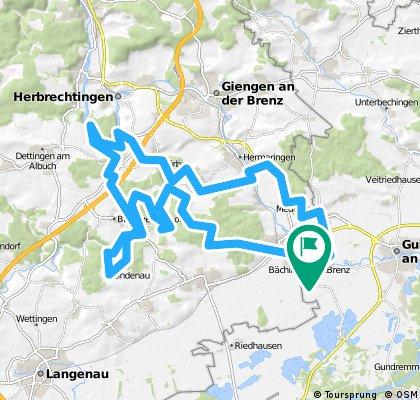 Bächingen Lindenau über Burgen und durch Täler