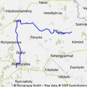 HOYA bike tour: Mátészalka -> Olcsva -> Nagyar