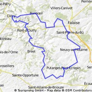 Parcours 100km Week-end Suisse Normande
