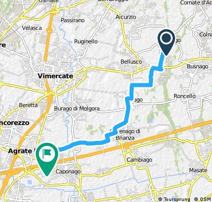 Work commuter via Rio Vallone