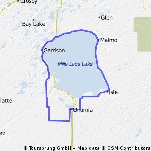 Mille Lacs Lake loop