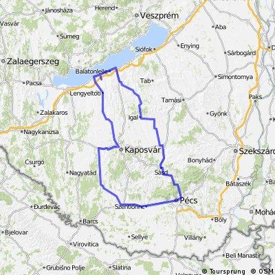 Orda-Lelle-Pécs-Kaposvár-Fonyód