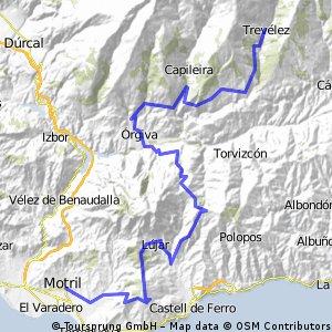 Trevelez-Pampaneira-Orgiva-Cerro Camacho-Lujar-Cerro Molinero-Motril