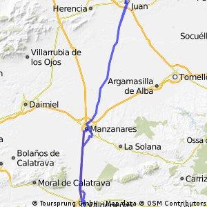 Cosolación, Manzanares, Alcazar de San Juan y vuelta
