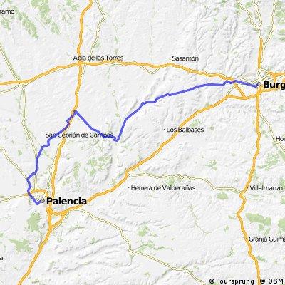 BCB. Burgos-Astudillo-Palencia. Camino de Santiago y Canal de Castilla
