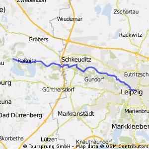 Auf dem Deich von Halle nach Leipzig CLONED FROM ROUTE 292322 CLONED FROM ROUTE 951236