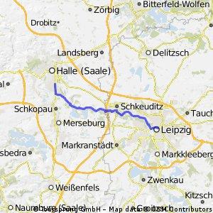 Leipzig - Halle auf dem Elsterradweg