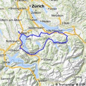 Sattelegg (1189m): Cham - Menzingen - Lachen - Sattelegg - Sattel - Arth - Immensee - Cham (121.0Km, 1590hm)