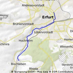 Erfurt City zum Bachstelzenweg