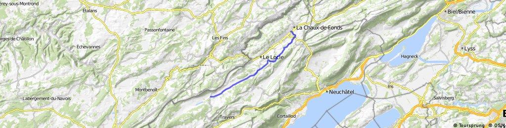 2 - De la Brévine à la Chaux-de-Fonds