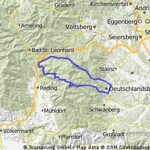 D'landsberg - Weinebene - Twimberg - Hebalm - D'landsberg