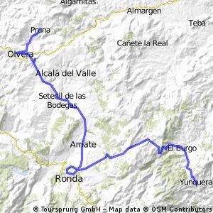 Von Pruna nach Yunquera