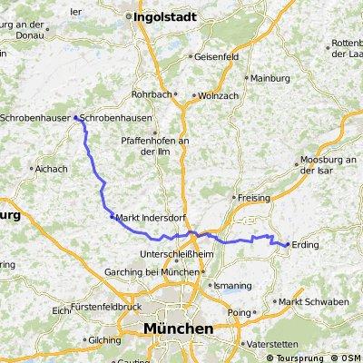 BR Radltour 2013 - Etappe 1 - Erding - Neufahrn - Markt Indersdorf - Schrobenhausen