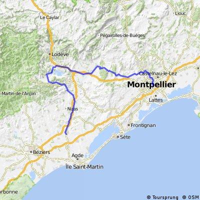 montpellier- saint thibery