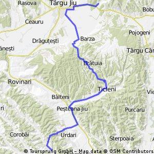 Balanesti - Valea Racilor via Tg-Jiu