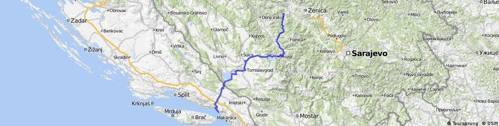 Bike : N. Travnik - Brela