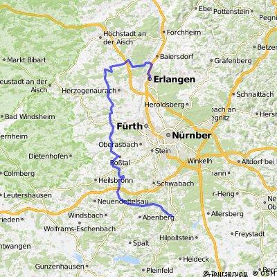 BR Radltour 2013 - Etappe 4 - Roth - Rohr - Cadolzburg - Weisendorf - Erlangen