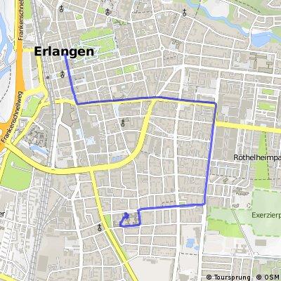 BR Radltour 2013 - Etappe 4 - Roth - Erlangen - Ziel - Quartier