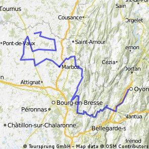 02. FERME-MUSEE DE LA FORET >>> OYONNAX - 149.3 km