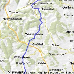 Schwebenried-Wittelsbacher Turm über Euerdorf