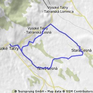 Starý Smokovec - Nová Lesná - Stará Lesná